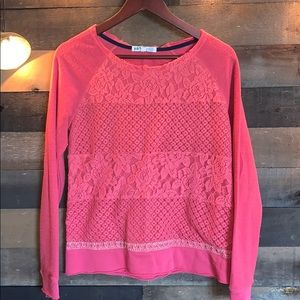 Joly lace cotton sweater
